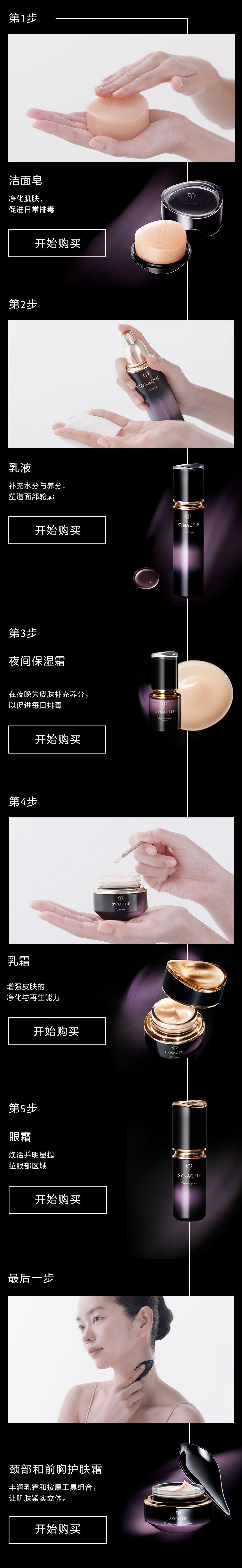 Synactif夜间专属护肤方案产品
