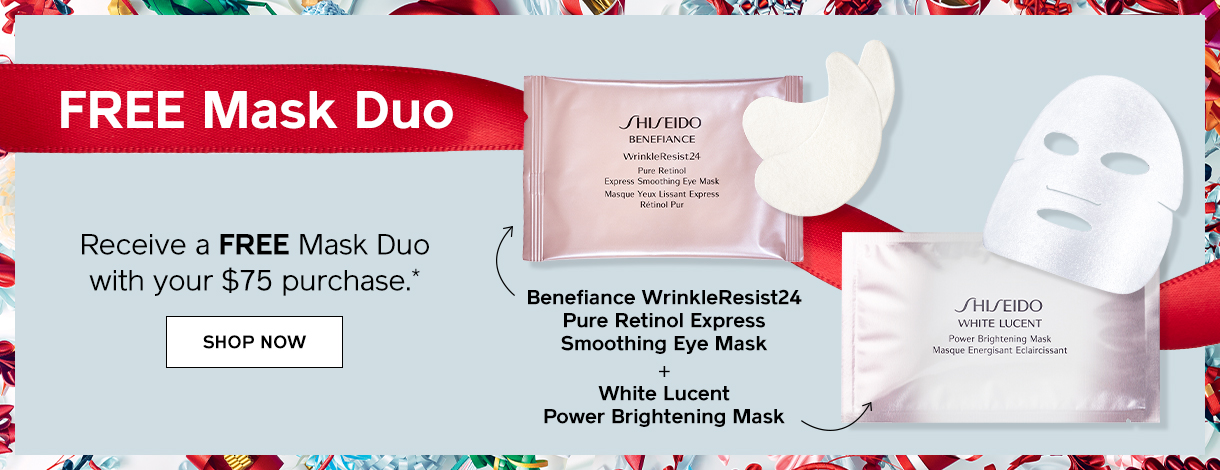 FREE Mask Duo. Receive a FREE Mask Duo with your $75 purchase. Comprar ahora.