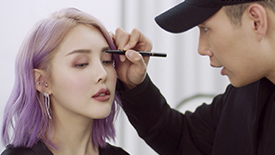 Chromatic Mauve Look with Patrick Ta & Pony