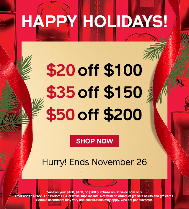 Active Shiseido Discount Codes & Offers 12222