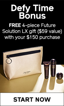 DEFY TIME BONUS: Receive a FREE 4-piece Future Solution LX gift with your $150 purchase. SHOP NOW