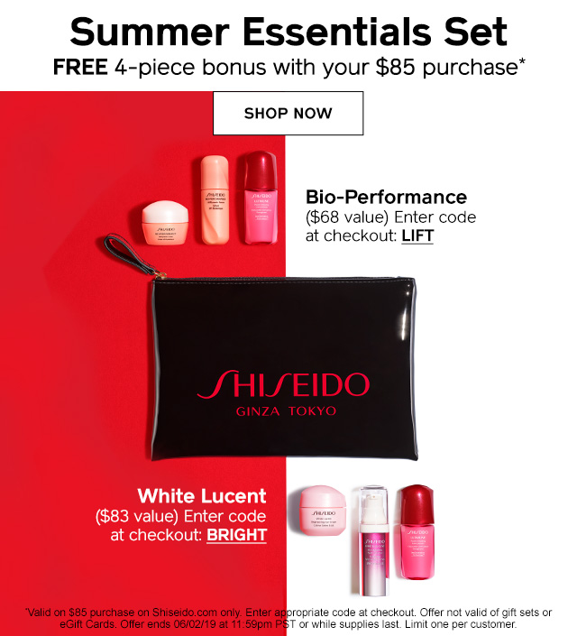 Summer Essentials Set: FREE 4-piece bonus with your $85 purchase. Enter code BRIGHT or LIFT at checkout! Comprar ahora.